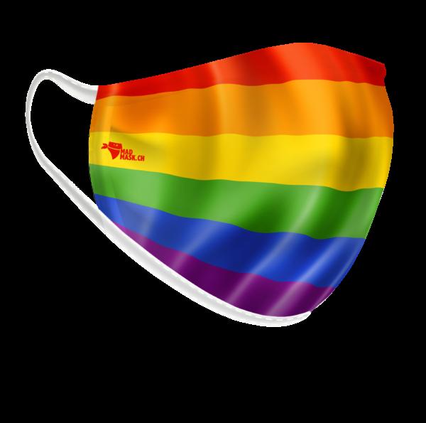 lgbt-Flagge-Maske